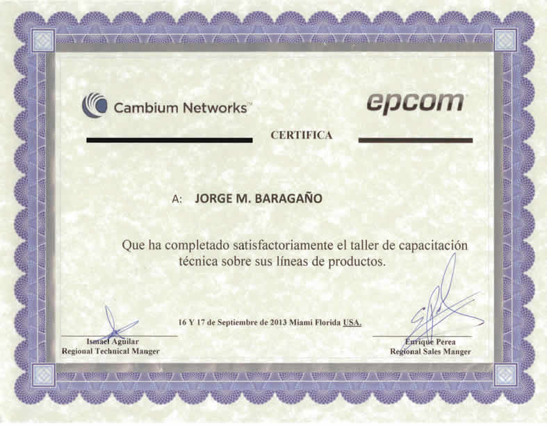 Cambium Epcom Certification